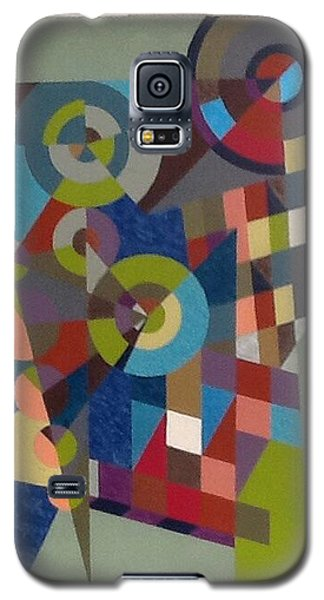 Galaxy S5 Case featuring the painting Letter  M by Hang Ho