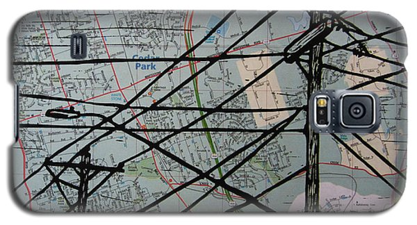 Lines On Map Galaxy S5 Case