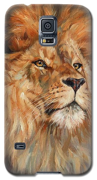 Lion Galaxy S5 Case by David Stribbling