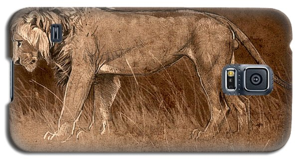 Galaxy S5 Case featuring the digital art Lion Sketch by Aaron Blaise
