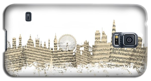 London England Skyline Sheet Music Cityscape Galaxy S5 Case by Michael Tompsett