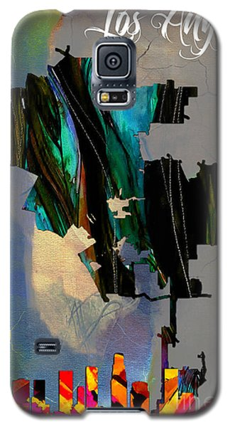 Los Angeles Map And Skyline Galaxy S5 Case by Marvin Blaine