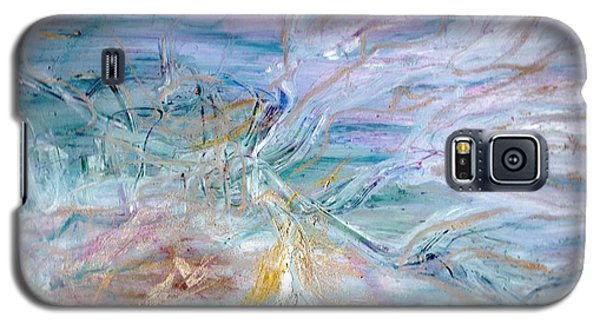 Galaxy S5 Case featuring the painting Lost Angel by Lesley Fletcher