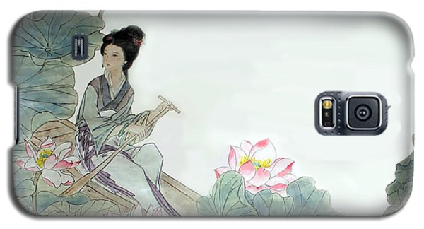 Galaxy S5 Case featuring the photograph Lotus Pond by Yufeng Wang