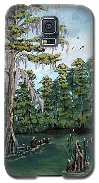 Galaxy S5 Case featuring the painting Louisiana Cypress by Suzanne Theis
