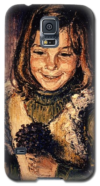 Galaxy S5 Case featuring the painting Luisa Fernanda by Walter Casaravilla