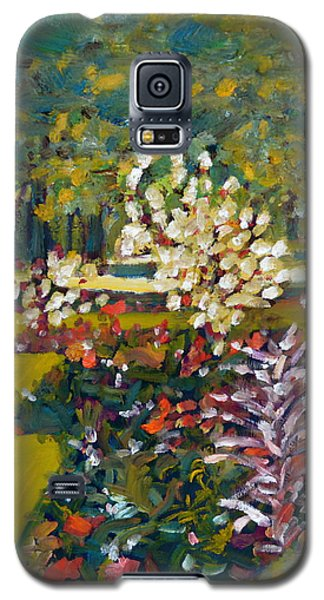 Galaxy S5 Case featuring the painting Luxembourg Gardens by Julie Todd-Cundiff