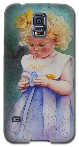 Maggie's Dandelion Galaxy S5 Case by Patsy Sharpe