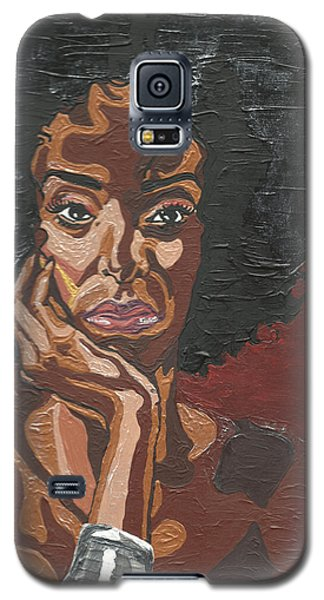 Galaxy S5 Case featuring the painting Mahogany by Rachel Natalie Rawlins