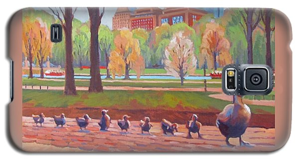 Boston Galaxy S5 Case - Make Way For Ducklings by Dianne Panarelli Miller