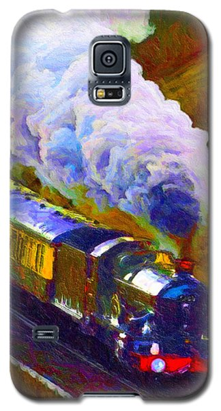 Galaxy S5 Case featuring the digital art Making Smoke by Chuck Mountain