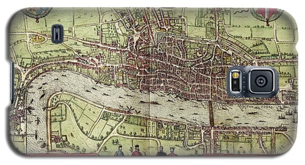 Tower Of London Galaxy S5 Case - Map Of London by Library Of Congress, Geography And Map Division