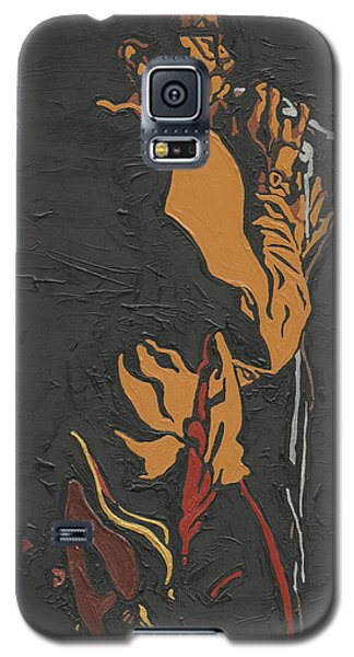 Galaxy S5 Case featuring the painting Martin Luther Mccoy by Rachel Natalie Rawlins