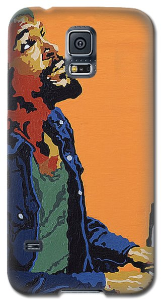 Galaxy S5 Case featuring the painting Marvin Gaye by Rachel Natalie Rawlins