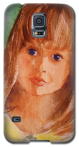 Galaxy S5 Case featuring the painting Mary's Little Girl by Suzanne McKay