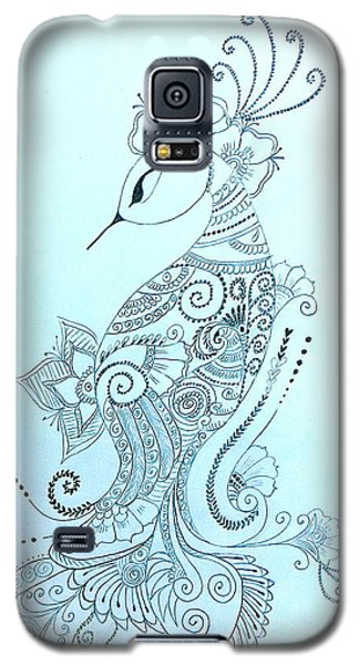 Mehndi Peacock Galaxy S5 Case