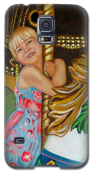 Galaxy S5 Case featuring the painting Merry-go-round by Sharon Schultz