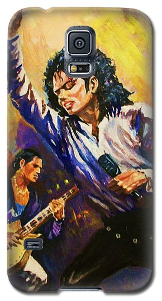 Galaxy S5 Case featuring the painting Michael Jackson In Concert by Al Brown