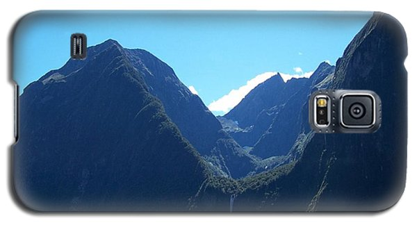 Galaxy S5 Case featuring the photograph Milford Sound Waterfall II by Constance Drescher