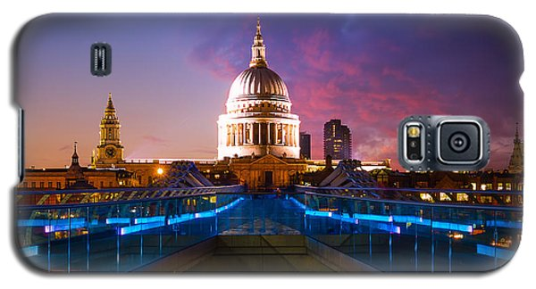 Millennium Bridge Sunset Galaxy S5 Case by Fiona Messenger