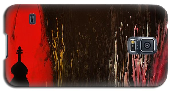 Galaxy S5 Case featuring the painting Mingus by Michael Cross