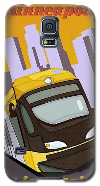 Galaxy S5 Case featuring the painting Minneapolis Light Rail Travel Poster by Jude Labuszewski