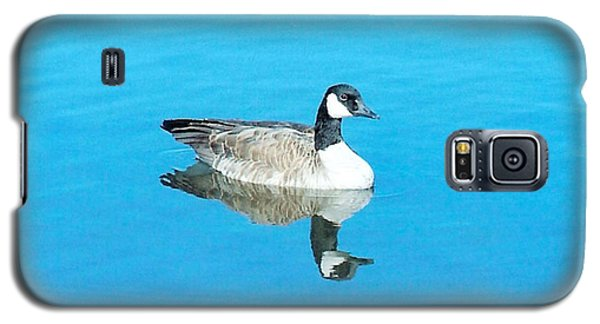 Galaxy S5 Case featuring the photograph Mirror Goose by Kerri Mortenson
