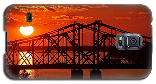 Mississippi River Bridge At Natchez Galaxy S5 Case