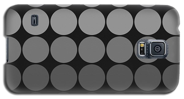 Mod Pop Gradient Circles Black And White Galaxy S5 Case