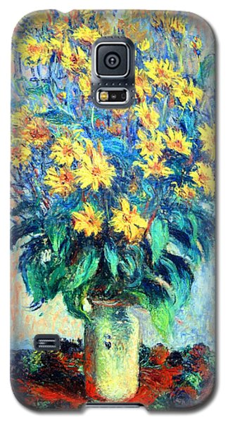 Galaxy S5 Case featuring the photograph Monet's Jerusalem  Artichoke Flowers by Cora Wandel