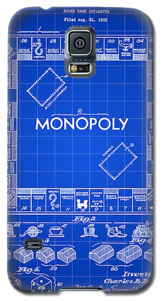 Monopoly Patent 1935 - Blue Galaxy S5 Case by Stephen Younts