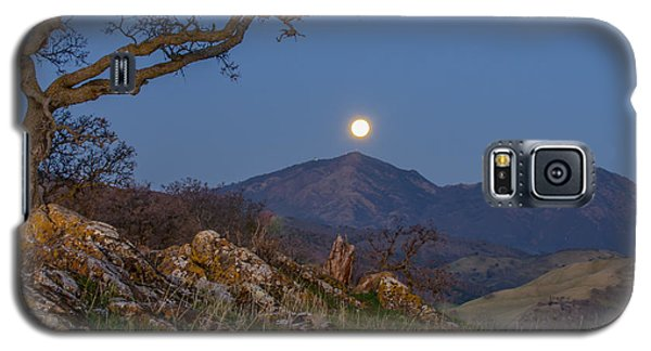 Moon Over Mt Diablo Galaxy S5 Case