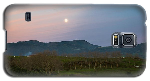 Moon Over The Hills Of Povoacao Galaxy S5 Case
