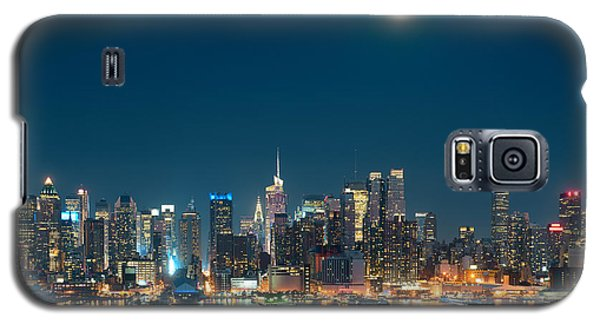Moon Rise Manhattan Galaxy S5 Case