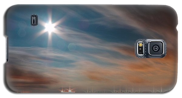 Moon Rise Over Anna Maria Island Historic City Pier Galaxy S5 Case