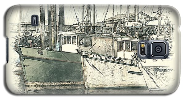 Moored Fishing Boats Galaxy S5 Case