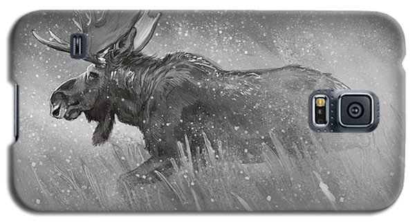 Galaxy S5 Case featuring the digital art Moose Sketch by Aaron Blaise