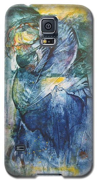Galaxy S5 Case featuring the painting Mother And Child by Diana Bursztein