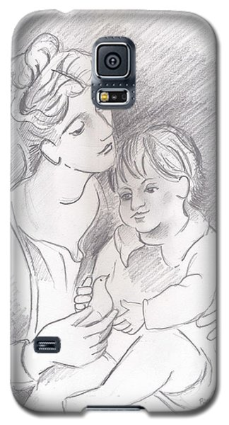 Mother And Child Galaxy S5 Case by John Keaton