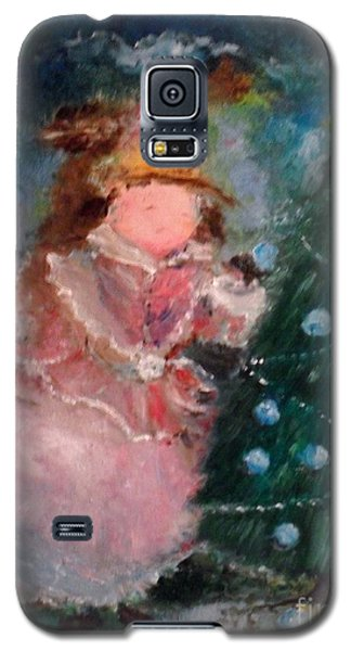 Galaxy S5 Case featuring the painting Mother Christmas by Laurie L