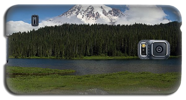 Mount Rainier From Reflection Lake Galaxy S5 Case by Bob Noble Photography