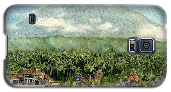 Galaxy S5 Case featuring the painting Mt. Agung Bali Indonesia by Melly Terpening