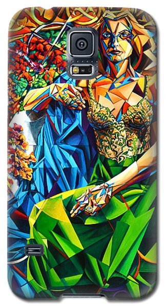 Galaxy S5 Case featuring the painting Muse  Summer by Greg Skrtic