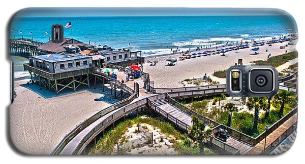 Galaxy S5 Case featuring the photograph Myrtle Beach South Carolina by Alex Grichenko
