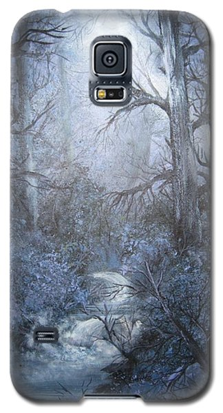 Galaxy S5 Case featuring the painting Mystery by Megan Walsh