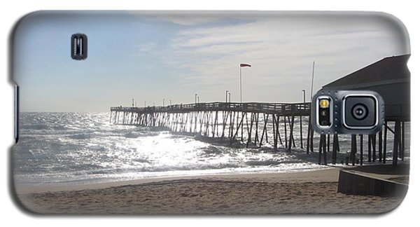 Nags Head Pier 2 Galaxy S5 Case by Cathy Lindsey