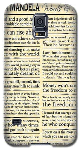 Nelson Mandela Words And Wisdom - Vertical Galaxy S5 Case by Ginny Gaura