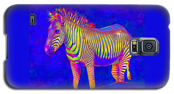 Neon Zebra 2 Galaxy S5 Case by Jane Schnetlage