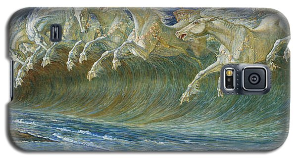 Neptune's Horses Galaxy S5 Case by Walter Crane
