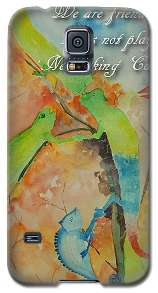 Galaxy S5 Case featuring the painting Networking by Geeta Biswas